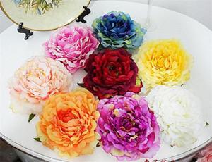 A mano di seta Peony Capolino 16cm * 8cm artificiali Flowers Peonie europee per fai da te Brida Bouquet polso Corsage 8 colori disponibili