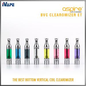 Aspire ET BVC Clearomizers Autêntico ET BDC Atomizers 3ml E Ciagerettes eletrônicos Aspire ET Clearomzier com BVC BDC Head substituível