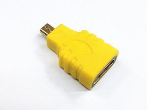 HDMI tipo A hembra de Oro HDMI micro D macho plateado adaptador convertidor de conector