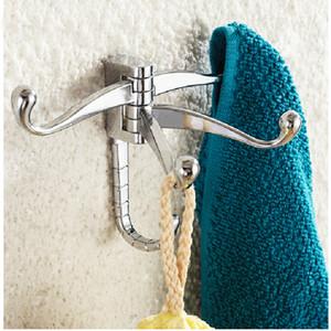 Freies Verschiffen Groß- und Kleinhandel-Förderung NEUE Chrom-Messingwand brachte Badezimmer-Kleiderbügel-Haken-Aufhänger für Hut-Tuch-Halter an