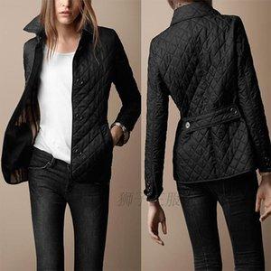 Al por mayor Nueva invierno 2016 chaqueta de la capa de las mujeres del diseño de marca del estilo británico Argyle Wadded chaqueta más el tamaño de algodón acolchado de abrigo Un