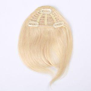 3 Clips PC 7-Zoll-Schwarz Braun Bonde Farbkombination Menschenhaar-Verlängerung Franse-Haar-Clips in Easy Apply Menschliches Haar Bangs