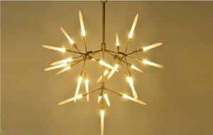 Moderno led droplight assorbimento di ferro seduta lampada a sospensione moderna Branch Agnes calda luce soggiorno ristorante arte decorazione lampade