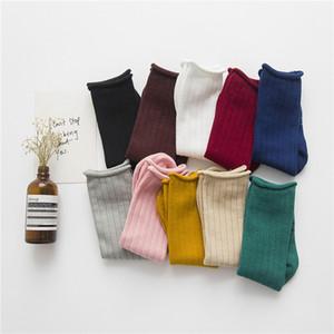 niños del color sólido creativas tubo rizado color de los calcetines de algodón de azúcar bebé Tong Tong calcetines calcetines montones de estilo 35