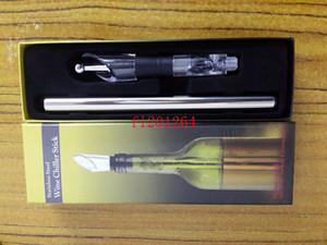 Бесплатная доставка красное вино chiller stick нержавеющей стали бутылки вина Cooler Chill Stick вино прохладный стержень аксессуары с пробкой