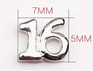 20PCS / lotto all'ingrosso numero sedici 16 Charms del medaglione di galleggiamento misura per il medaglione magnetico vivente di vetro di Jewelrys