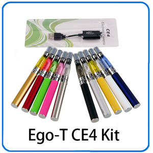 e cig eGo CE4 kit de inicio Kits de blíster CE4 individual 650 mah 900 mah 1100 mah EGO-T Batería CE4 Clearomizador Atomizador vaporizador pluma de vape DHL