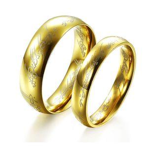 Кольца из нержавеющей стали OPK ювелирные изделия высокого качества пара любовник обручальные кольца 18K позолоченные ручной работы роскошные пара комплект ювелирных изделий 316L