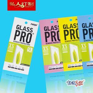 500pcs verre trempé protecteur d'écran Retail Package Box film boîte d'emballage pour téléphone portable accessiores par DHL
