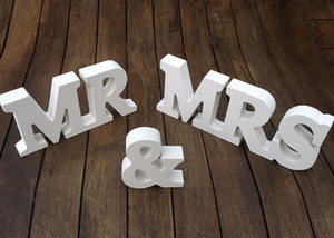 MR MRS Letter Decoration White Color letras boda y dormitorio adorno mr mrs Best Selling In Stock