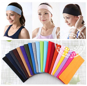DHL, FEDEX, UPS Ücretsiz Nakliye Yeni 100% Cotton168PCS Yoga Spor Bandı Kadın Streç Türban Geniş Hairband Saç Aksesuarı A3698