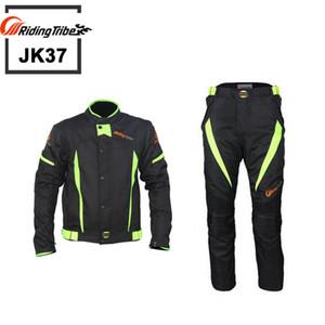 Equitazione Tribe Motociclo nero riflettono corse invernali giacche e pantaloni, Moto giacche impermeabili Abiti Pantaloni, JK37