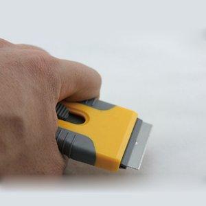 4,5 * 10.5cm мини Razor скребок Желтого автомобиль тюнинг швабра оконное стекло Обои очистки шпатель Скребок с лезвием бритвы MO-89