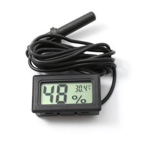 Wired Numérique LCD Hygromètre humidimètre testeur Aquarium température thermomètre avec sonde Livraison gratuite