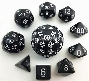 مجموعة النرد الرقمية 10 قطعة مع حقيبة TG عالية الجودة d4 ، d6 ، d8،2xd10 ، d12 ، ، d20 ، d24 ، d30 ، d60 dnd RPG لعب الألعاب Big dice TOY