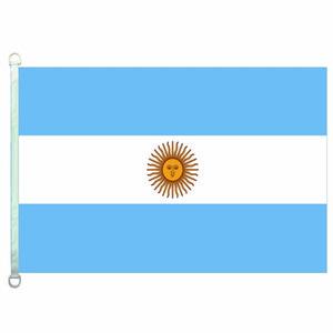 Gute Flaggen-Argentinien kennzeichnet Fahnen 3X5FT-90x150cm 100% Polyester-Landesflaggen, 110gsm Warp-Gestrick-Gewebe-im Freien kennzeichnen