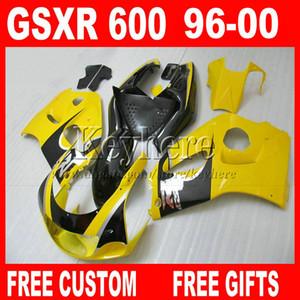SUZUKI SRAD GSXR 600 750 96 97 için tam set Fairing parçaları 97 99 99 Sarı fairings kiti gsxr600 gsxr750 1996 1997 1998 1999 2000 5L2A 7 hediyeler