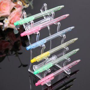 Plástico 6 Booths e cig Display Stand Pen Holder Pantalla de cigarrillo electrónico Lip Gloss Lipstick Holder Maquillaje Pen Display Display Rack Shelf
