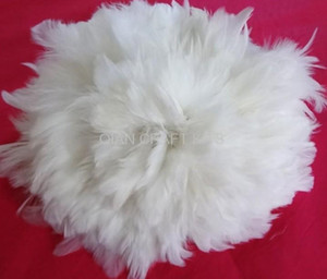 400pcs White Goose Feathers Rooster Schlappen Feathers Bulk Supply Craft Design Hair wholesale free shipping