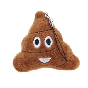 Poo Sorriso pingente 5.5X5.5X2cm Emoji Emoção QQ expressão Chaveiro Meninos e Meninas favor Plush saco de brinquedo da boneca Telefone Backpack pendant