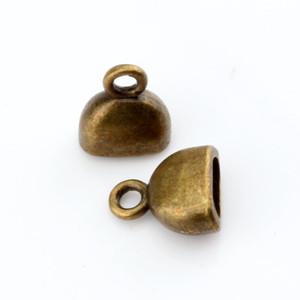 Hot ! 100PCS Antique Bronze Zinc Alloy Cup Cord End Cap Stopper 10x13mm DIY Jewelry