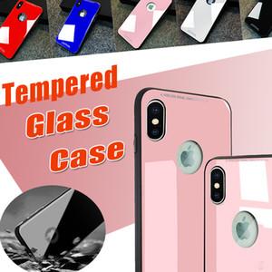 0.8 мм закаленное стекло чехлы внутренняя анти-прочность гибридный противоударный защитное зеркало жесткий задняя крышка чехол для iPhone XS Max XR X 8 7 6 6S Plus