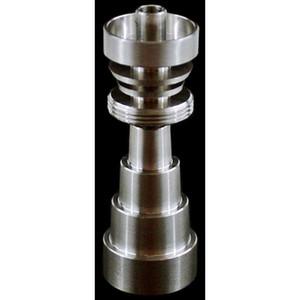 GR2 التيتانيوم 10/14 / 18mm وذكر وأنثى قابل للتعديل محول تي الأظافر 10mm14mm19mm 6 IN 1 GR2 التيتانيوم الأظافر بونجس المياه أنابيب الزجاج