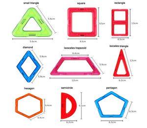 Variety Children's Building Blocks Magnetic Sheet Magnetic Wisdom Magic piece single rectangle piece