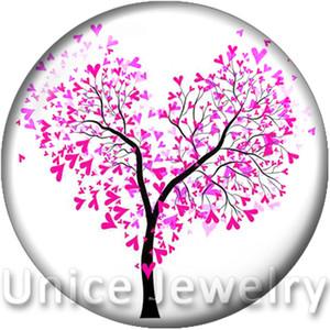 AD1301126 12 / 18 / 20mm 팔찌 목걸이에 매혹적인 DIY 발견 유리 스냅 버튼 쥬얼리 love tree design noosa