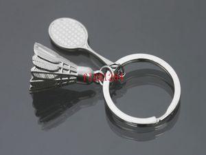 Бесплатная доставка 100 шт./лот супер прохладный 3D металл Бадминтон Бадминтон ракетка брелок брелок брелок брелок кольцо для ключей