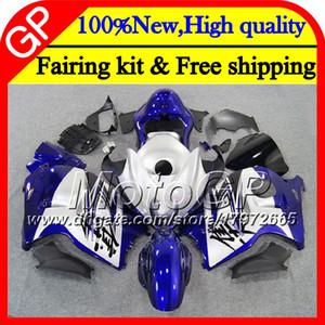 Cuerpo para SUZUKI Azul plata Hayabusa GSXR1300 96 07 1996 1997 1998 41GP40 GSXR 1300 GSXR-1300 GSX R1300 1999 2000 2001 Carenado de motocicleta