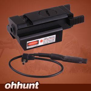 Kompakt Avcılık Taktik Red Dot Lazer Sight Kapsam Basınç Anahtarı Ile 20mm Picatinny Ray Dağı Ücretsiz Kargo