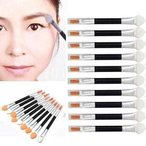 Wholesale-Hot Selling New  Pincel Maquiagem Double-end Eye Shadow Eyeliner Brush Sponge Applicator Tool Free Shipping&Wholesale