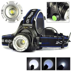 3000lm cree xml-l2 xm-l t6 led scheinwerfer zoomable scheinwerfer wasserdichte stirnlampe taschenlampe scheinwerfer angeln jagd licht