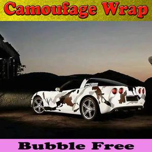 Esportes Ártico Camuflagem Vinyl Car Envoltório Filme Com Bolha de Ar Livre Inverno Camo Vinyl Envoltório Camo tamanho dos gráficos 1.52x30 m / Roll Frete Grátis