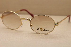 оптовые 1188008 Круглые металлические солнцезащитные очки женщина или мужчины известные C украшения золото кадр очки вождения очки Размер: 55-22-135mm