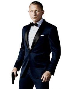 2016 Tasarımcı Düğün Damat Smokin Adam Takım Elbise Slim Fit Sağdıç Damat Suits (Ceket + Pantolon + Kravat + yelek) Düğün Parti Suit