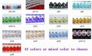 OMH atacado 200 pcs 13 cores ou misto de cor vermelha para escolher 6mm rodada rondelle contas de cristal de vidro rondelle spacer beads Sj95
