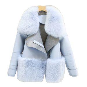 X201711 Neue Design 2016 Mode Winter Frauen Pelzmantel Frau Kunstpelz Mujer Weibliche Patchwork Kurze Winterjacke Frauen Faux Pelzmantel