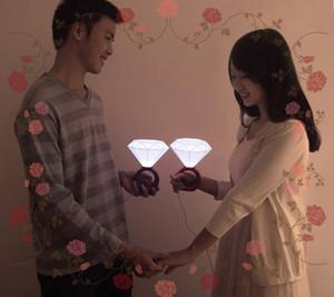 Coppia di fari a LED Coppie romantiche Nightlight, idee regalo di San Valentino luci a diamante, USB \ lampada con alimentatore