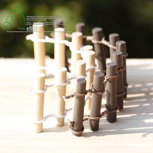 10шт Bonsai Resin Small Garden mini Fence Craft Декоративные инструменты для украшения гномов Jardin Microlandschaft Миниатюры Барьерное фехтование Главная