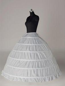 In Stock 6 Hoops Sottoveste economici 2019 Bianco Sottogonna da sposa Big Crinoline Slip Accessori da sposa Sottogonna per abito da ballo Abito da sposa