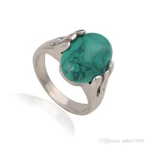 2015 보헤미안 자연 작은 터키석 반지 25 PC의 로켓 개인 맞춤 반지 여성을위한 자연적인 돌 반지