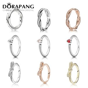 DORAPANG 925 Sterling Silver & 14K Gold Color Rings For Women Rose Gold Drops Of Fashion DIY Pan Ring Factory Wholesale