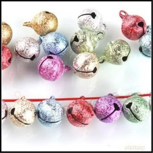 Wholesale-Festival Styling 240pcs/lot Mixed Colors Small Jewelry Bells Findings, Christmas Decoration Ornament Jingle Bells