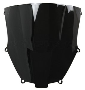 Parabrisas Doble Motocicleta WindScreen Para 2000-2003 Kawasaki Ninja ZX9R ZX 9R 00 01 02 03 2001 2002 Negro