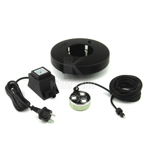 3 Head Sprayer Kupfer Ultraschall LED Nebel Maker Fogger Bunte 9 Leds + Netzteil + Boje + 10 Ceramic Chip für Rockery Water Pond