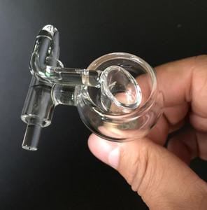 Neue Art-Glas Bongs Honig Eimer Quarz Nägel mit rotierendem Quarz Nagel für Wasserrohr Bohrinseln Glas Bongs Zubehör