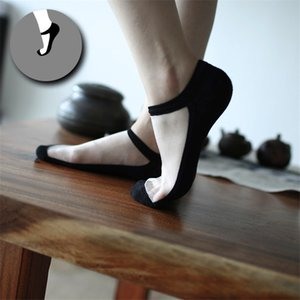 Wholesale-Women Ankle Socks 100% Cotton Colored Stealth Antiskid Female Cold Silk Socks Ultra-thin Light Mouth Free Shipping