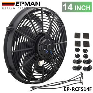 """Tansky - New 14"""" polegadas elétrica EPMAN Universal de refrigeração do radiador Fan Curvo S-Blade Para Radiator Radiador de óleo EP-RCFS14F"""